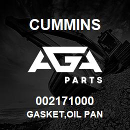002171000 Cummins GASKET,OIL PAN | AGA Parts