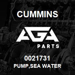 0021731 Cummins PUMP,SEA WATER | AGA Parts