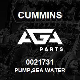 0021731 Cummins PUMP,SEA WATER | AGA Parts