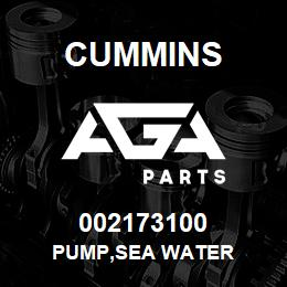 002173100 Cummins PUMP,SEA WATER | AGA Parts