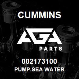 002173100 Cummins PUMP,SEA WATER | AGA Parts