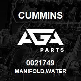 0021749 Cummins MANIFOLD,WATER | AGA Parts