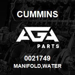 0021749 Cummins MANIFOLD,WATER   AGA Parts