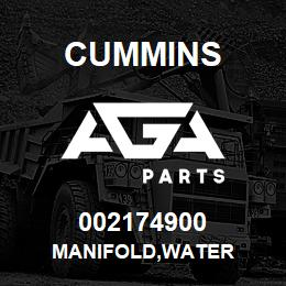 002174900 Cummins MANIFOLD,WATER | AGA Parts