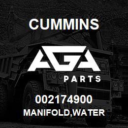 002174900 Cummins MANIFOLD,WATER | AGA Parts