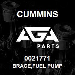 0021771 Cummins BRACE,FUEL PUMP | AGA Parts