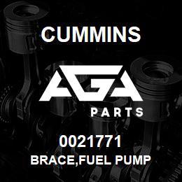0021771 Cummins BRACE,FUEL PUMP | AGA Parts