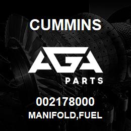 002178000 Cummins MANIFOLD,FUEL | AGA Parts