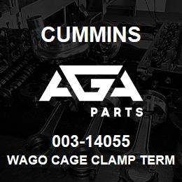 003-14055 Cummins WAGO CAGE CLAMP TERMINAL BLOCK | AGA Parts