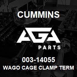 003-14055 Cummins WAGO CAGE CLAMP TERMINAL BLOCK | AGA Parts