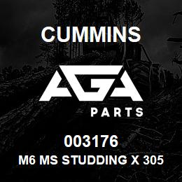 003176 Cummins M6 Ms Studding x 305mm Long | AGA Parts