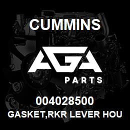 004028500 Cummins GASKET,RKR LEVER HOUSING | AGA Parts