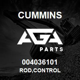 004036101 Cummins ROD,CONTROL | AGA Parts