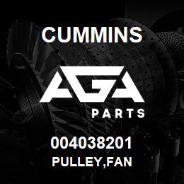004038201 Cummins PULLEY,FAN | AGA Parts