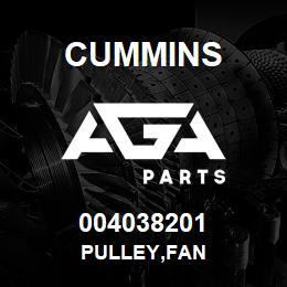 004038201 Cummins PULLEY,FAN | AGA Parts