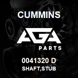 0041320 D Cummins SHAFT,STUB | AGA Parts