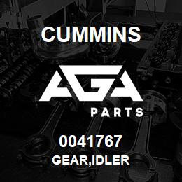 0041767 Cummins GEAR,IDLER | AGA Parts