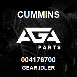 004176700 Cummins GEAR,IDLER | AGA Parts