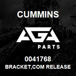 0041768 Cummins BRACKET,COM RELEASE | AGA Parts