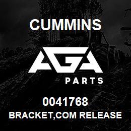 0041768 Cummins BRACKET,COM RELEASE   AGA Parts