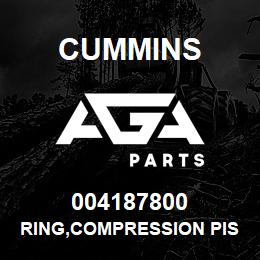 004187800 Cummins RING,COMPRESSION PISTON | AGA Parts