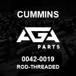 0042-0019 Cummins ROD-THREADED | AGA Parts