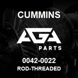 0042-0022 Cummins ROD-THREADED   AGA Parts