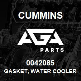 0042085 Cummins GASKET, WATER COOLER | AGA Parts