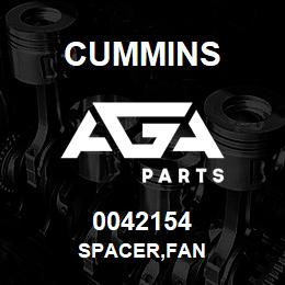 0042154 Cummins SPACER,FAN | AGA Parts