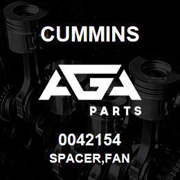 0042154 Cummins SPACER,FAN | AGA Parts