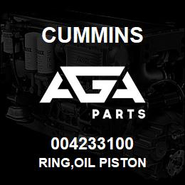 004233100 Cummins RING,OIL PISTON | AGA Parts