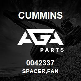 0042337 Cummins SPACER,FAN | AGA Parts