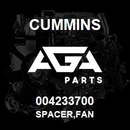 004233700 Cummins SPACER,FAN | AGA Parts