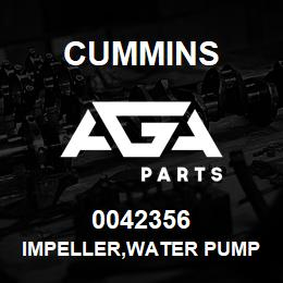0042356 Cummins IMPELLER,WATER PUMP | AGA Parts