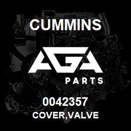 0042357 Cummins COVER,VALVE | AGA Parts