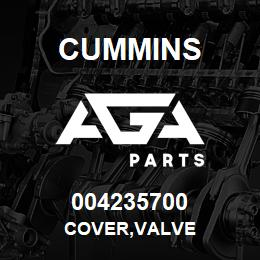 004235700 Cummins COVER,VALVE | AGA Parts