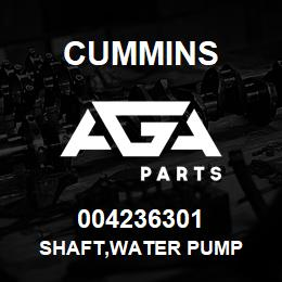 004236301 Cummins SHAFT,WATER PUMP | AGA Parts