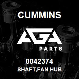 0042374 Cummins SHAFT,FAN HUB | AGA Parts