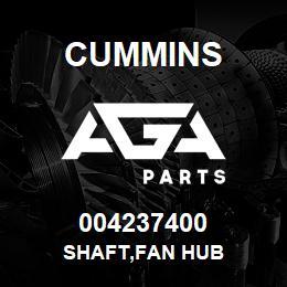 004237400 Cummins SHAFT,FAN HUB   AGA Parts