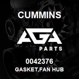 0042376 Cummins GASKET,FAN HUB | AGA Parts