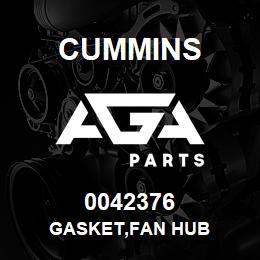 0042376 Cummins GASKET,FAN HUB   AGA Parts