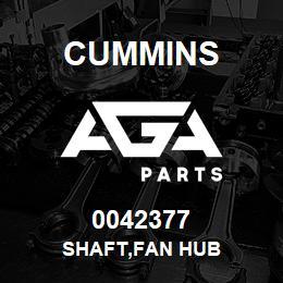 0042377 Cummins SHAFT,FAN HUB   AGA Parts