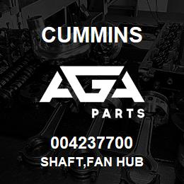 004237700 Cummins SHAFT,FAN HUB   AGA Parts