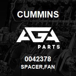 0042378 Cummins SPACER,FAN | AGA Parts