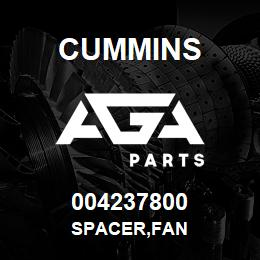 004237800 Cummins SPACER,FAN | AGA Parts