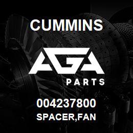 004237800 Cummins SPACER,FAN   AGA Parts