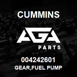 004242601 Cummins GEAR,FUEL PUMP | AGA Parts