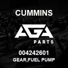 004242601 Cummins GEAR,FUEL PUMP | AGA Parts