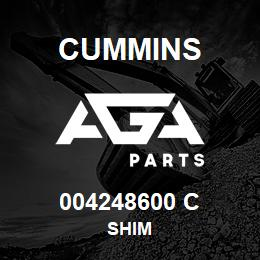 004248600 C Cummins SHIM | AGA Parts