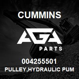 004255501 Cummins PULLEY,HYDRAULIC PUMP | AGA Parts